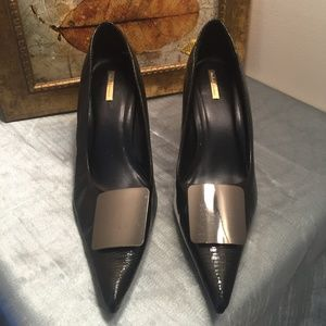 Michael Antonio Patent Leather Black Heel